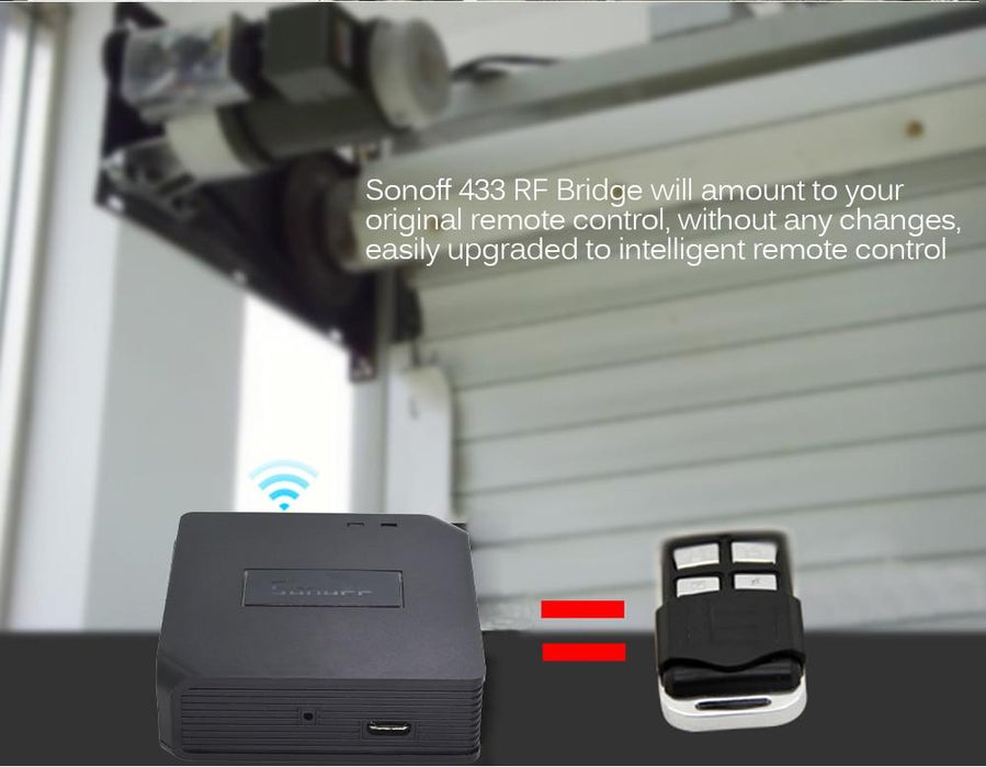 Smart RF Transmitter Sonoff Bridge of Wifi signal to 433Mhz