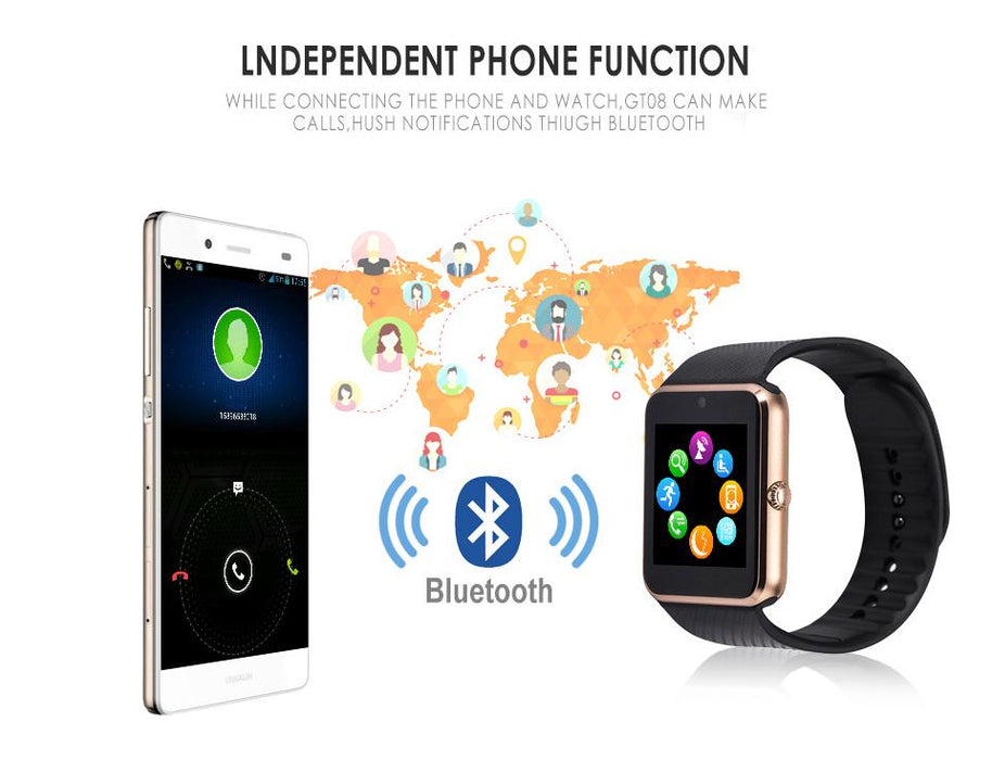 Smart watch GT08 SIM card, Bluetooth