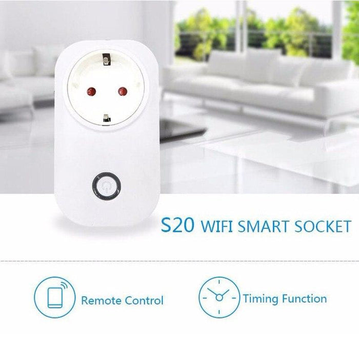 Smart contact Sonoff S20 to WiFi management, working with Alexa