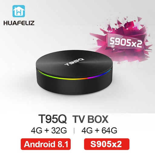 TV box T95Q, Android 8.1, 4GB RAM, 64GB ROM, WiFi, Bluetooth 2.0, 4K