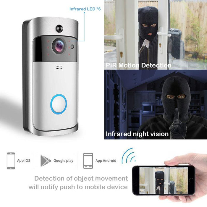 Video intercom bell Homesek 720P intercom connection with a smartphone, night vision, motion detector