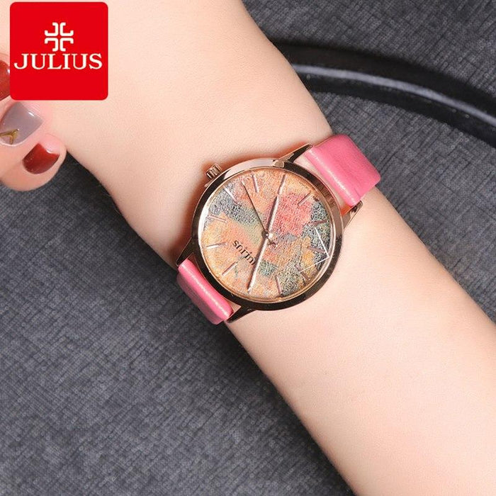 Waterproof ladies' quartz watch JULIUS 977