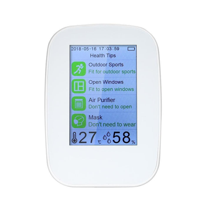 Digital Analyzer air quality laser PM2.5 detector. gas tester, temperature, humidity PM2.5 / HCHO / TVOC tester CO2