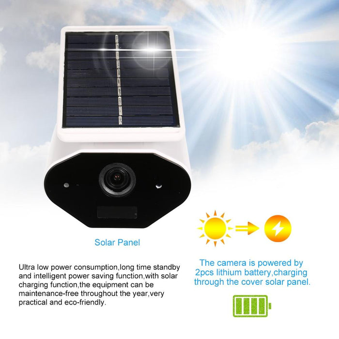 Outdoor IP Camera Solar battery WiFi Camera Waterproof 960P