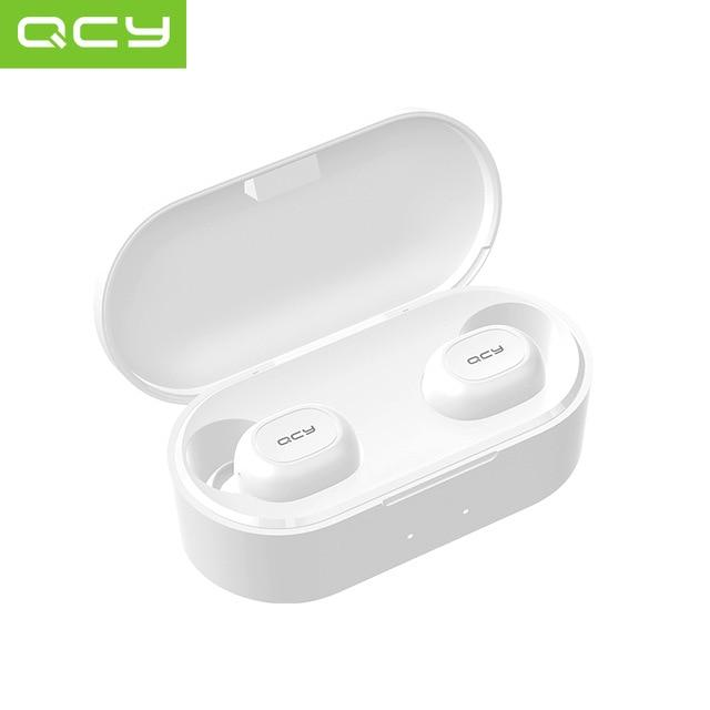 Wireless Bluetooth 5.0 headset with two microphones QCY T2C-RX TWS, 3D Stereo, Powerbank Case