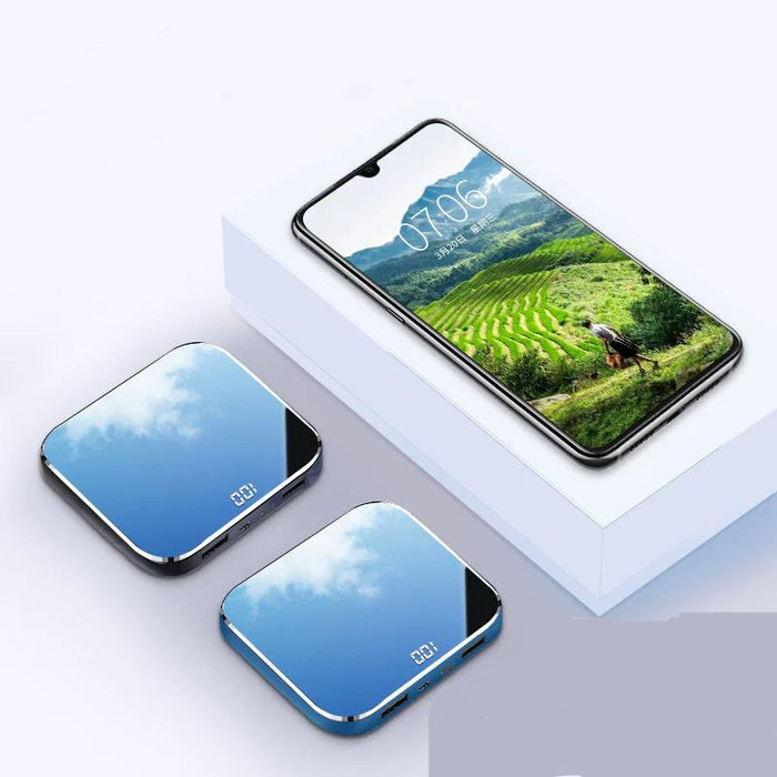 Mini external battery LEMFO, mirror, for iPhone, Samsung, Hiaomi