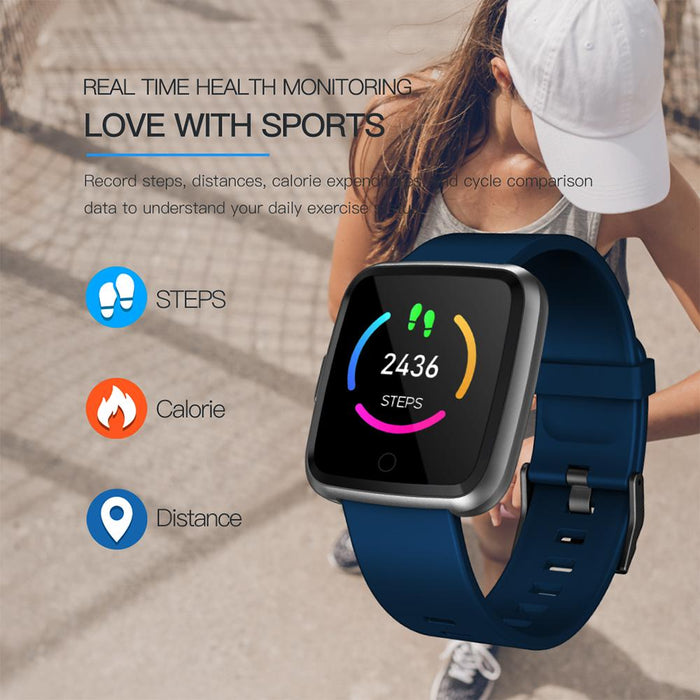 Smart fitness watch Vektros Y77 waterproof IP67 Pulse, pedometer, blood pressure
