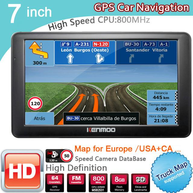 GPS Navigation Car, 7 inches, 800MHZ FM, SD card, 800x480 resolution