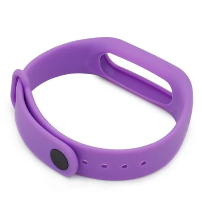 Purple silicone strap Xiaomi Mi Band 2