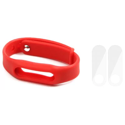Silicone strap and 2 pieces of screen protector Xiaomi Mi Band 2