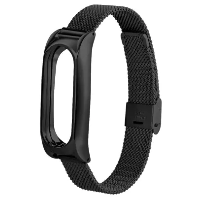 Breathable stainless steel bracelet with clasp for Xiaomi Mi Band 2