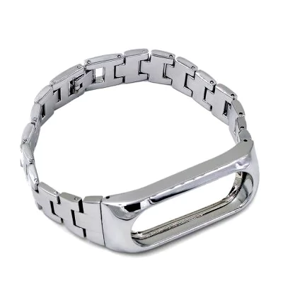 Strap Adjustable stainless steel bracelet for Xiaomi Mi Band 2