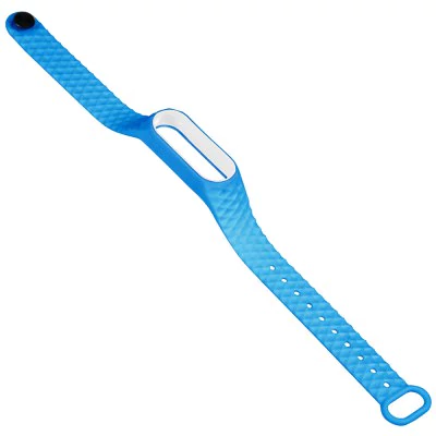 Blue and white thermoplastic elastomer strap for Xiaomi Mi Band 2