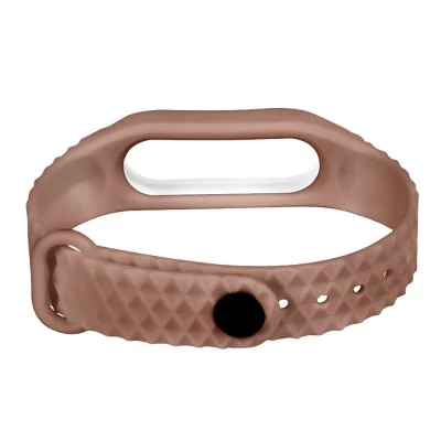 Brown and white strap of thermoplastic elastomer for Xiaomi Mi Band 2