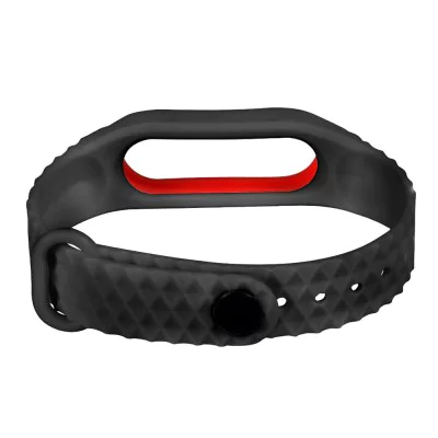 Red-black strap of thermoplastic elastomer for Xiaomi Mi Band 2