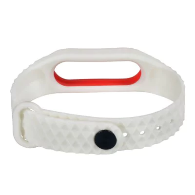 White-red strap of thermoplastic elastomer for Xiaomi Mi Band 2