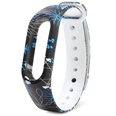 Black and blue strap of thermoplastic polyurethane Xiaomi Mi Band 2