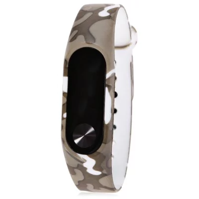 Camouflage brown strap of thermoplastic polyurethane Xiaomi Mi Band 2