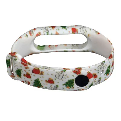 Hand painted Christmas strap of thermoplastic polyurethane Xiaomi Mi Band 2