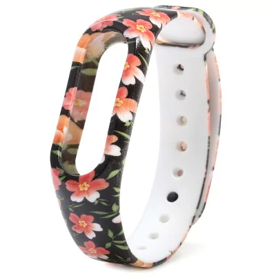 """Red flower"" strap of thermoplastic polyurethane Xiaomi Mi Band 2"