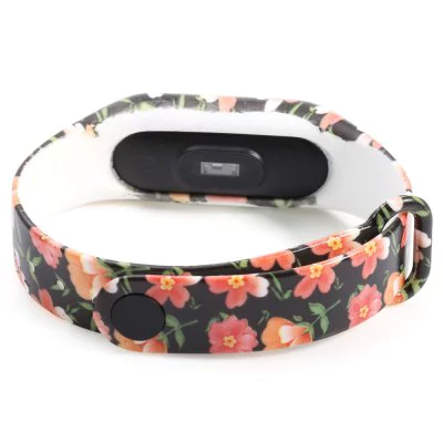 """Red flower"" thermoplastic polyurethane strap for Xiaomi Mi Band 2"