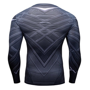 Long Sleeve Black Panther Compression Shirt