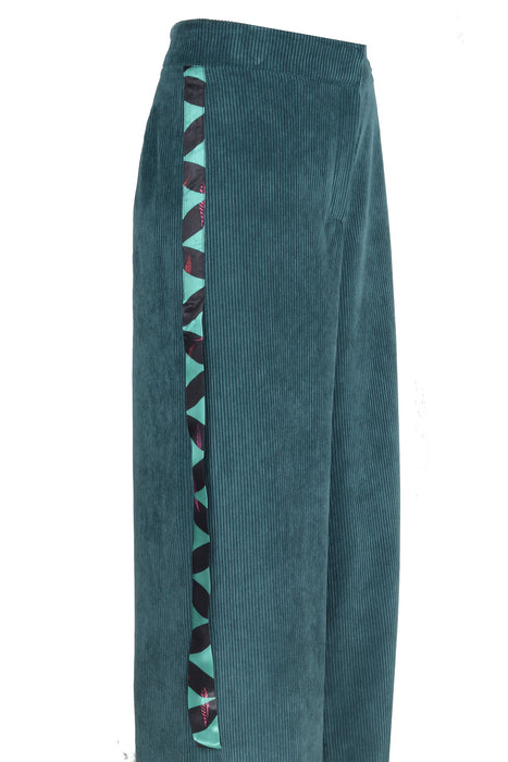 GREY GREEN VELVET TROUSER
