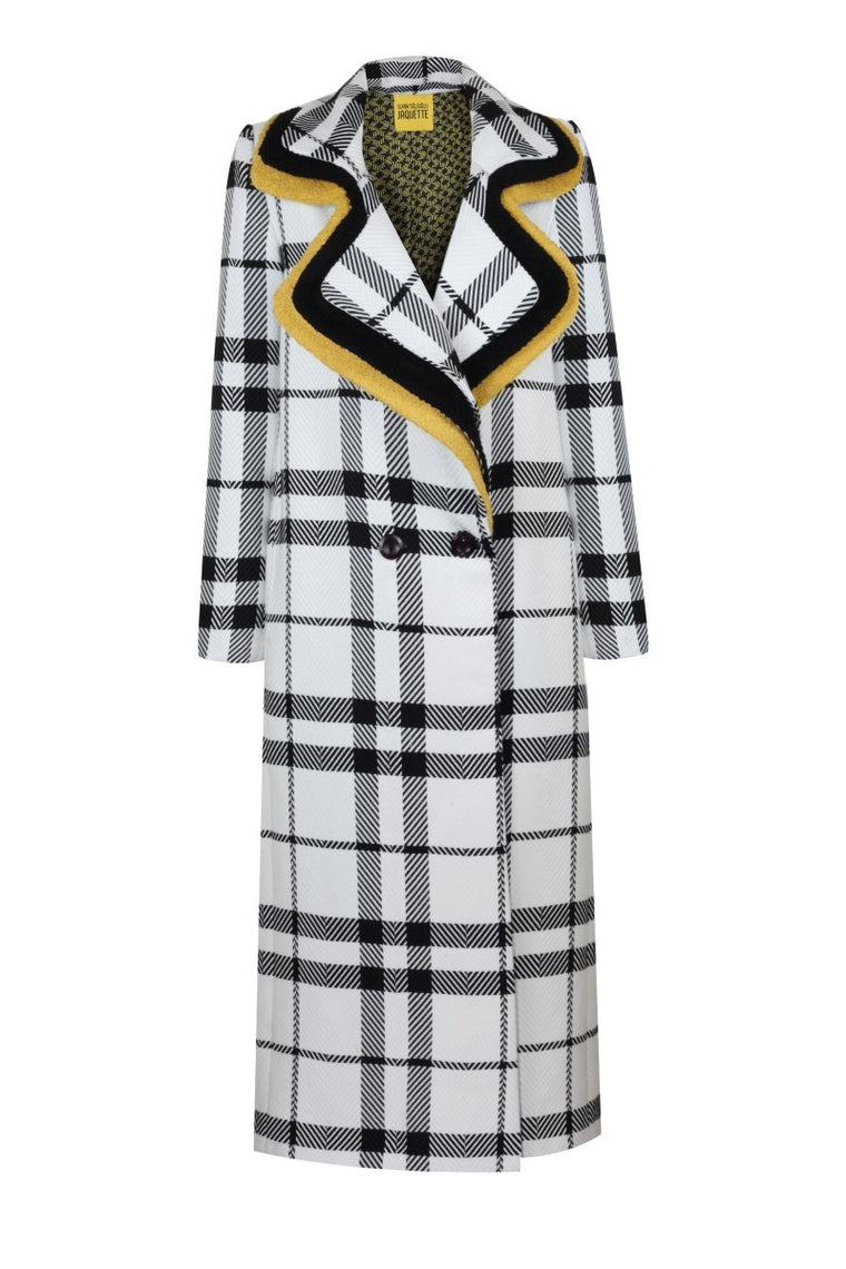 TRIPLEX NECK COAT - BLACK & WHITE