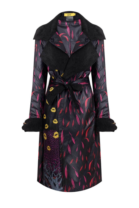 BONNIE AND CLYDE DOUBLEFACE VELVET TRENCHCOAT