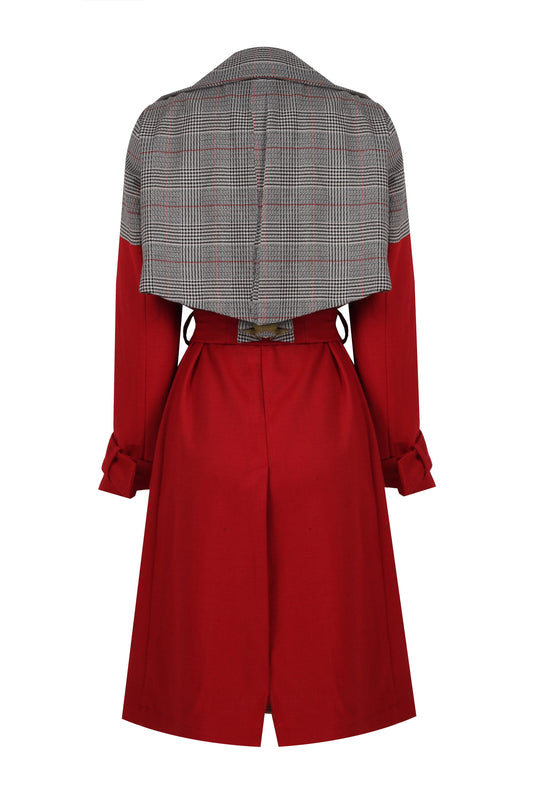 CUTTED - RED TRENCHCOAT