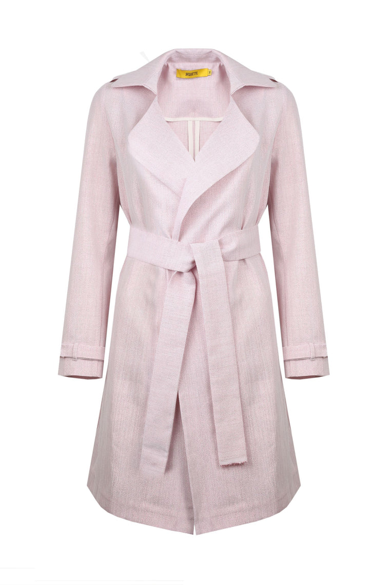 Pink Panther Linen Trenchcoat