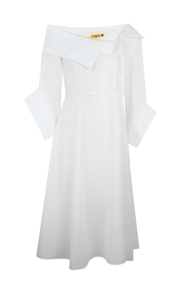 Asymmetric Collar Dress