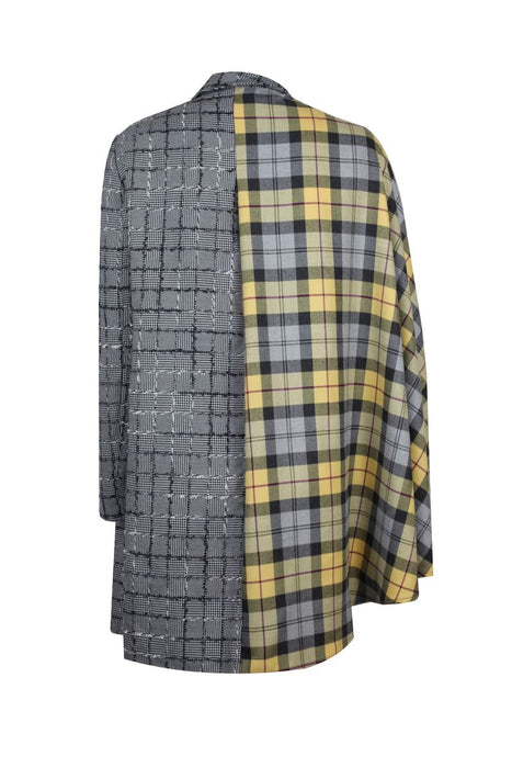 CHEKERED CAPE BLAZER