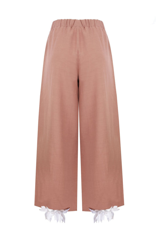 "Terracotta Colored ""Harem"" Trousers"