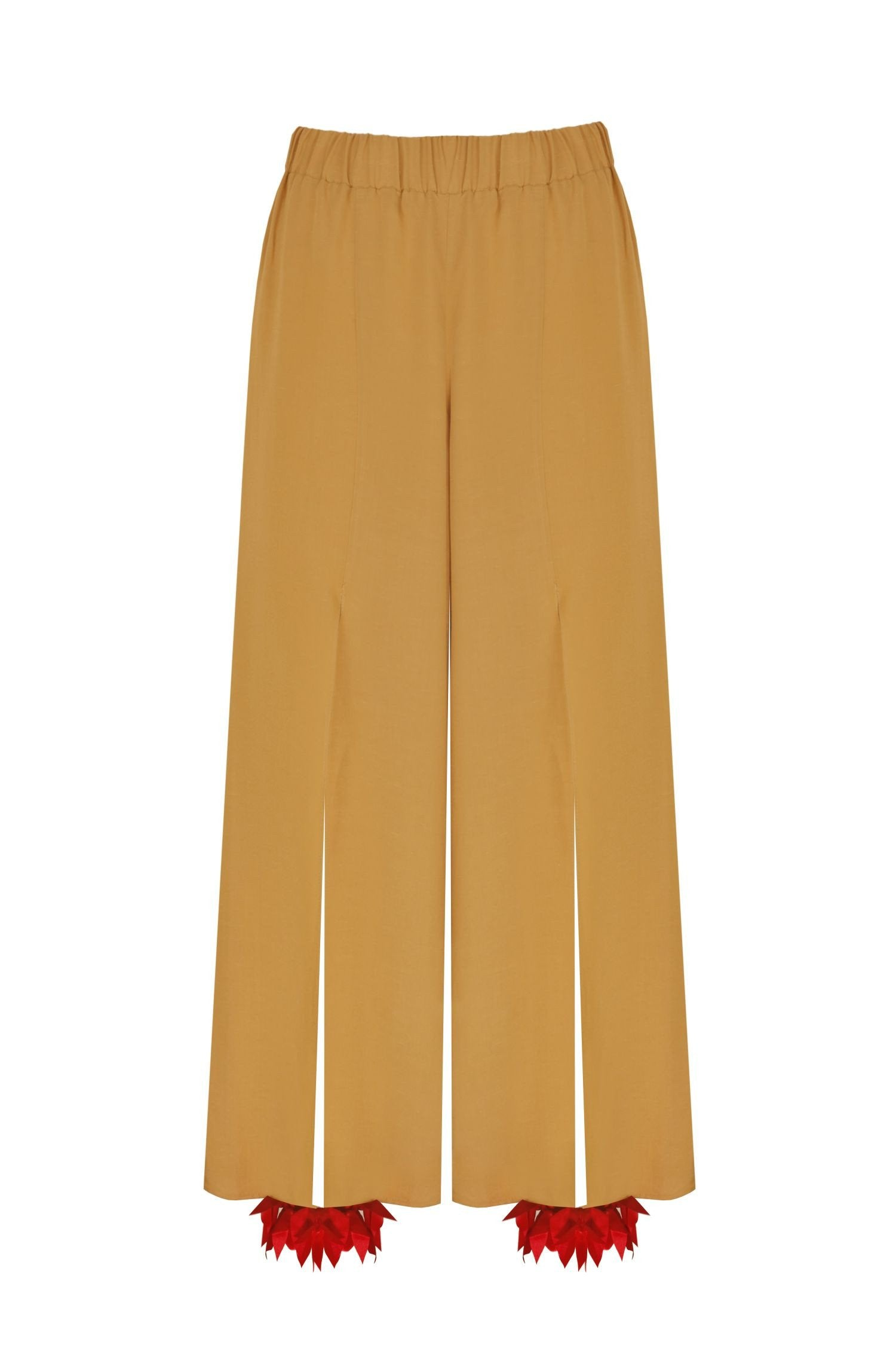 "Mustard  Colored ""Harem"" Trousers"