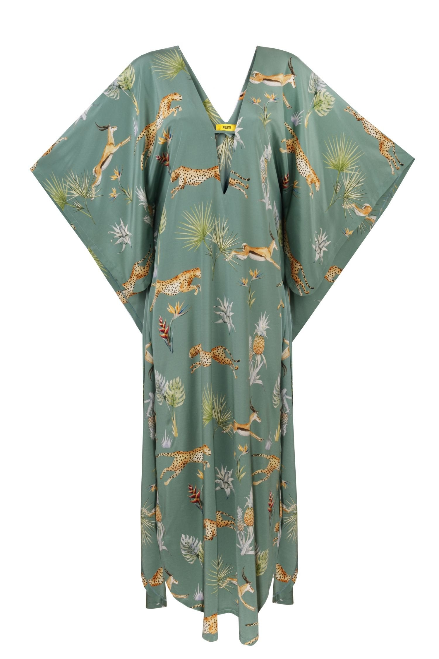 Silk Butterfly Dress Jungle