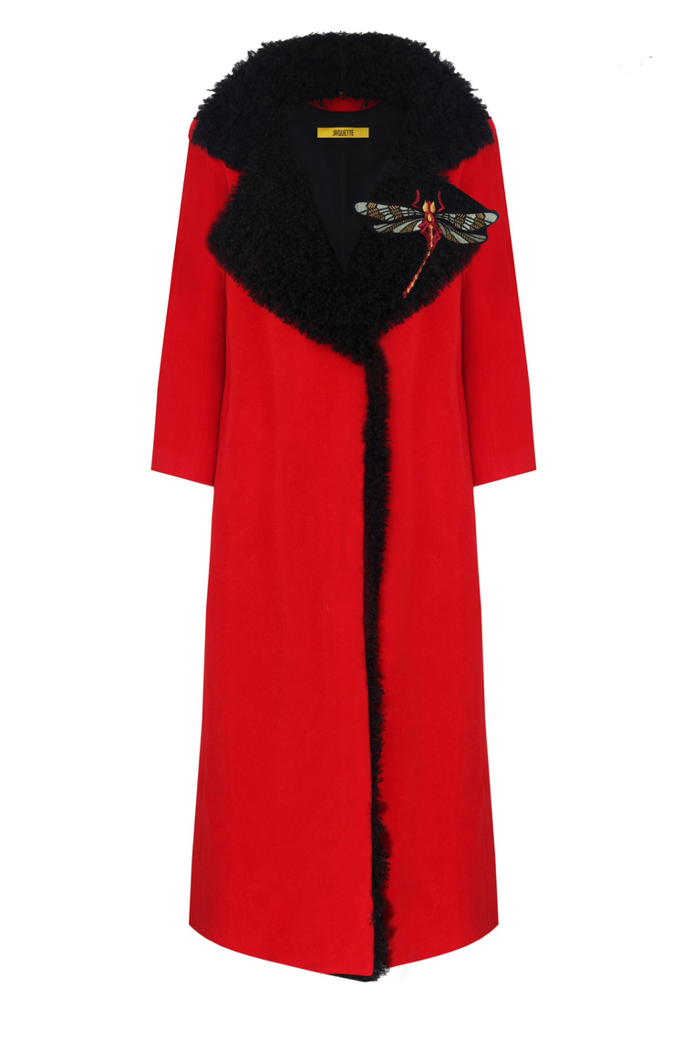 Cashemere Coat With Faux Fur 319