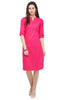 Bombay Diva Rani Pink Solid Cotton Straight Fit Casual Kurta