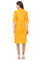 Bombay Diva Yellow Solid Cotton Straight Fit Casual Kurta