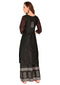Bombay Diva Women's Black Block Print Kurta And Palazzo Set