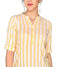Bombay Diva Yellow Stripe Printed Straight Fit Casual Kurta