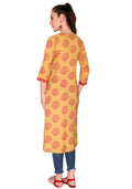 Bombay Diva Printed Rayon Straight Fit Casual Kurta