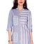 Bombay Diva Blue Printed Cotton Straight Fit Casual Kurta