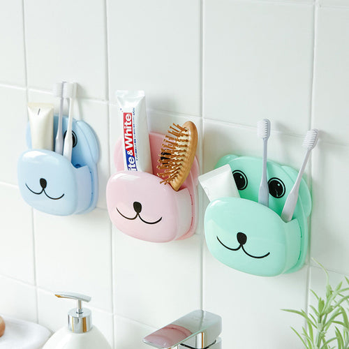 Cute Dog Toothbrush Holder Suction Cup Toothpaste