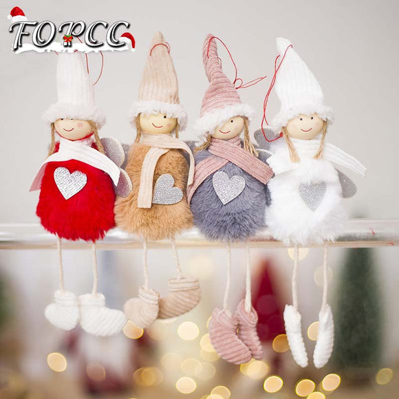 New Cute Angel Plush Doll Christmas Decoration Pendant
