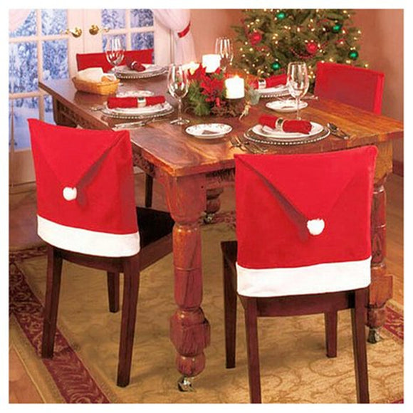 8 Pcs Chair Cover New Year Christmas Decoration Chair Covers
