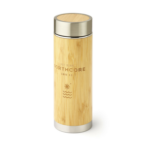 Bamboo Stainless Steel Thermos Flask 360ml - Northcore
