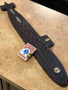 Submarine Cribbage board - Triple Crown Woodworks