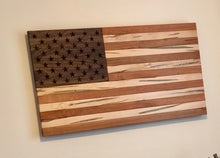 Load image into Gallery viewer, Hardwood American Flag