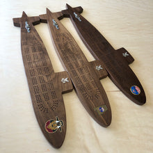 Load image into Gallery viewer, Submarine Cribbage board - Triple Crown Woodworks